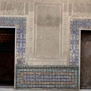 Оформление из керамики фасада дворца Альгамбра