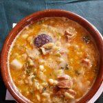 Густой суп с фасолью
