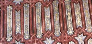 Потолок на Альгамбре из ливанского кедра