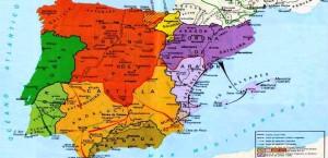 Карта реконкисты XII век
