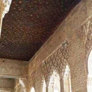 Деревянная обшивка галереи. Альгамбра